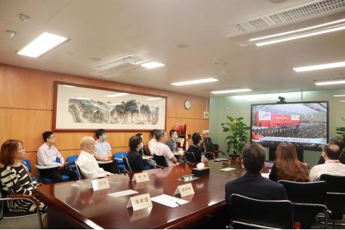 广州酒家集团组织全体党员干部观看深圳经济特区建立40周年庆祝大会